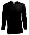 Heren shirt zwart long sleeve stretch
