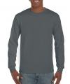 Gildan t-shirt lange mouwen antraciet