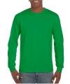 Gildan t-shirt lange mouwen grasgroen