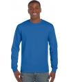Gildan t-shirt lange mouwen kobalt blauw