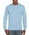 Gildan t-shirt lange mouwen lichtblauw
