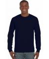 Gildan t-shirt lange mouwen navy