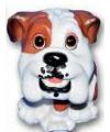Stenen Bulldog puppie zittend 13 cm