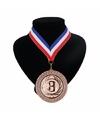 Medaille nr. 3 halslint rood wit blauw