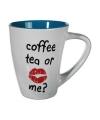 Drinkbeker blauw Coffee Tea or Me