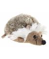 Liggende pluche egel knuffel 12 cm