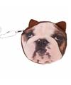 Bulldog portemonneetje 10 x 11 cm