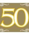 Party gouden servetten 50 jaar