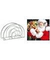 Kerstmis tafelversiering houder met kerstman servetten