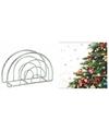 Kerstmis tafelversiering houder met kerstboom servetten