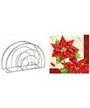 Kerstmis tafelversiering houder met rode Kerstster servetten