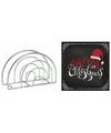 Kerstmis tafelversiering houder met zwarte servetten