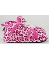 Zachte sloffen voor meisjes luipaard roze