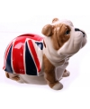 Spaarpot Bulldog met Engeland vlag