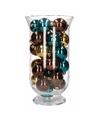 Kerstdecoratie vaas met bruin/gouden kerstballen